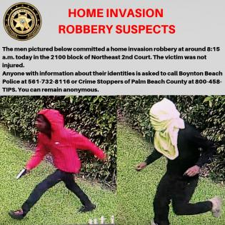 HOME INVASION ROBBERY SUSPECTS