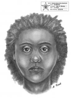 sketch of home invasion robbery suspect