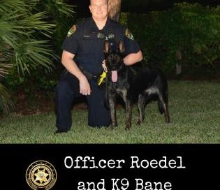 Officer Roedeland and K9 Bane