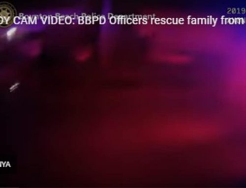 BODY CAM VIDEO: BBPD Officers rescue family from fire