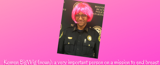 Police Chief Michael Gregory wearing pink wig