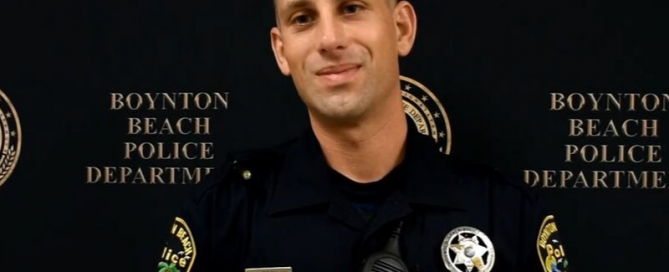 Officer Wertman smiling