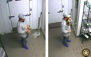 man holding gun inside yogurt shop