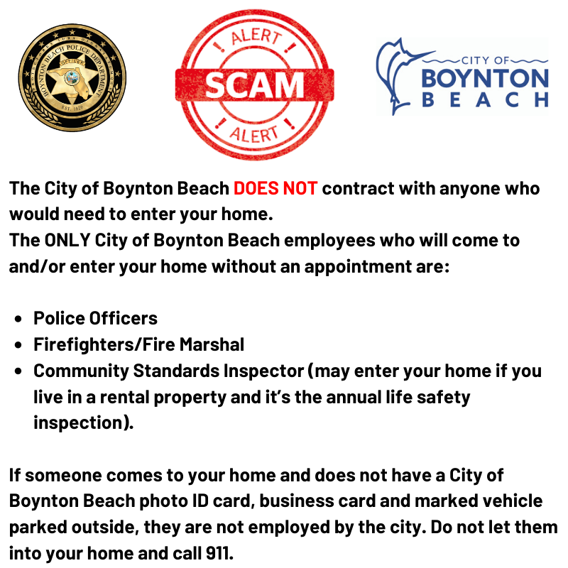 Crime prevention tips about a scam where burglary suspects posed as city workers
