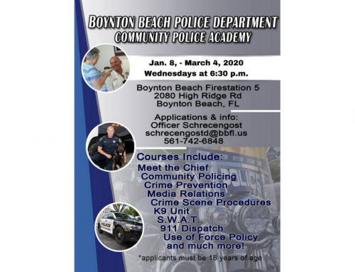 Register now for Community Police Academy