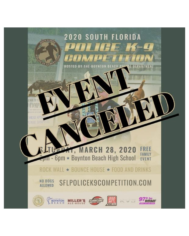 South Florida Police K9 Competition has been canceled