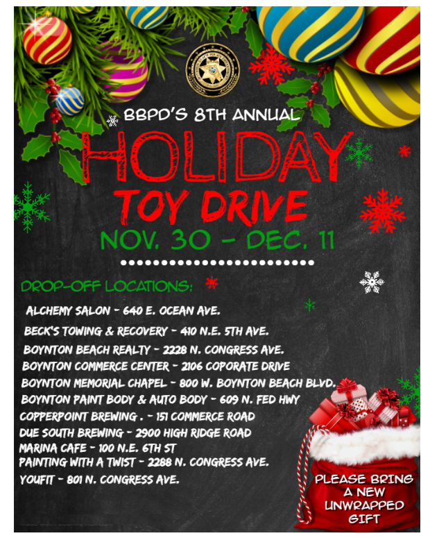 List of business to drop off toys