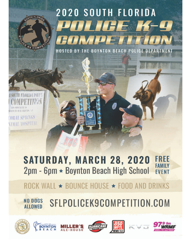 South Florida Police K9 Competition flyer