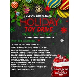 List of addresses to drop off toys for holidays