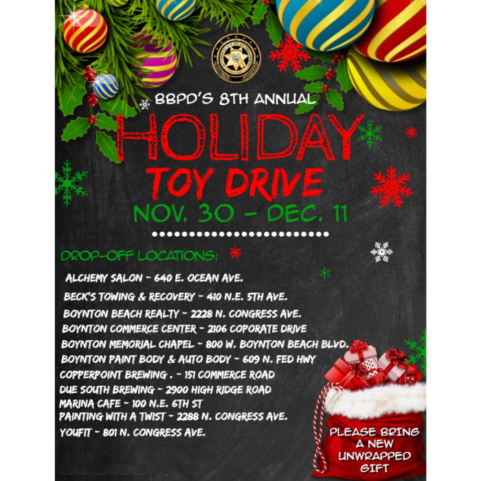 list of places to bring toys for toy drive
