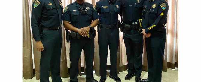 officers standing together