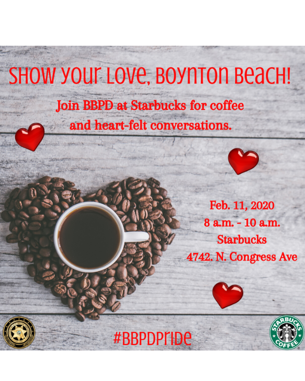 Have coffee with a Boynton Beach Police Officer