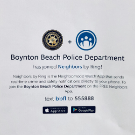 BBPD has joined Neighbors Ring
