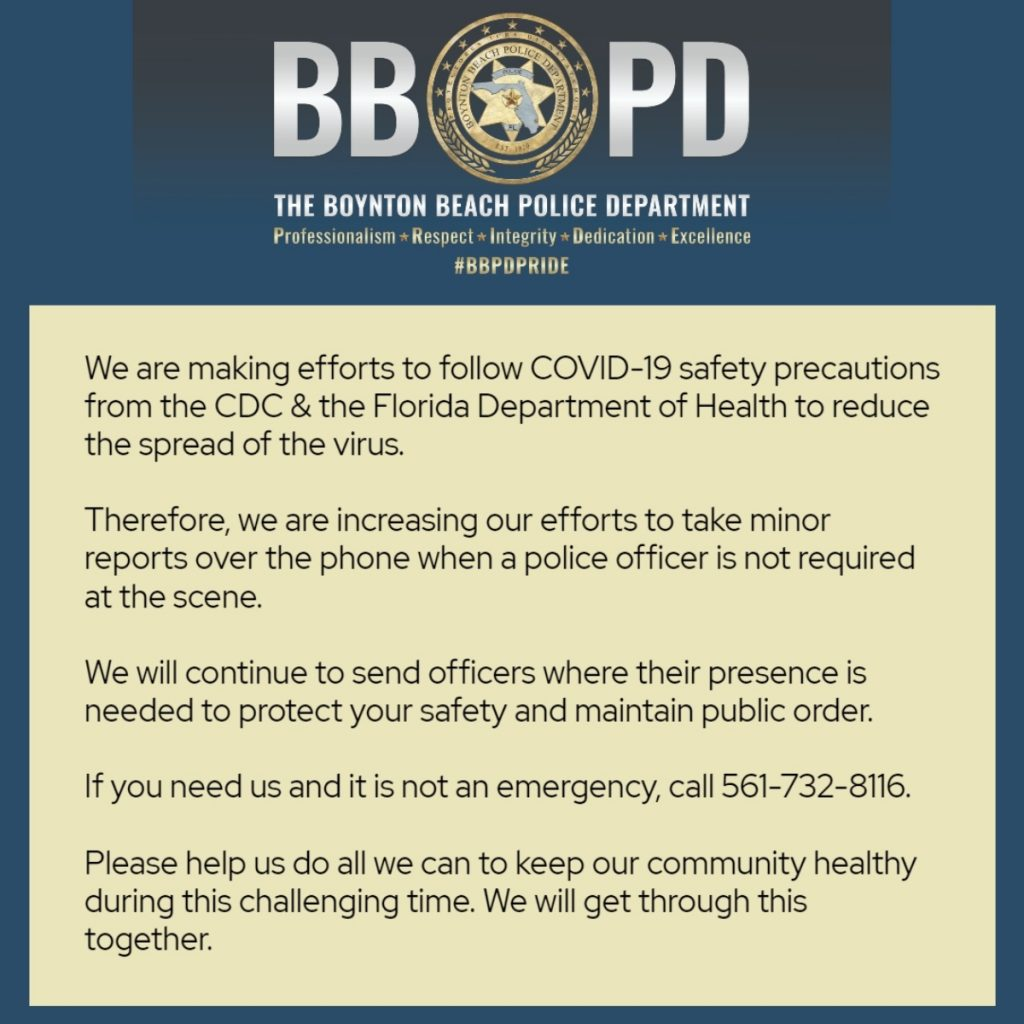 Update from BBPD about effort to increase taking of minor reports via phone