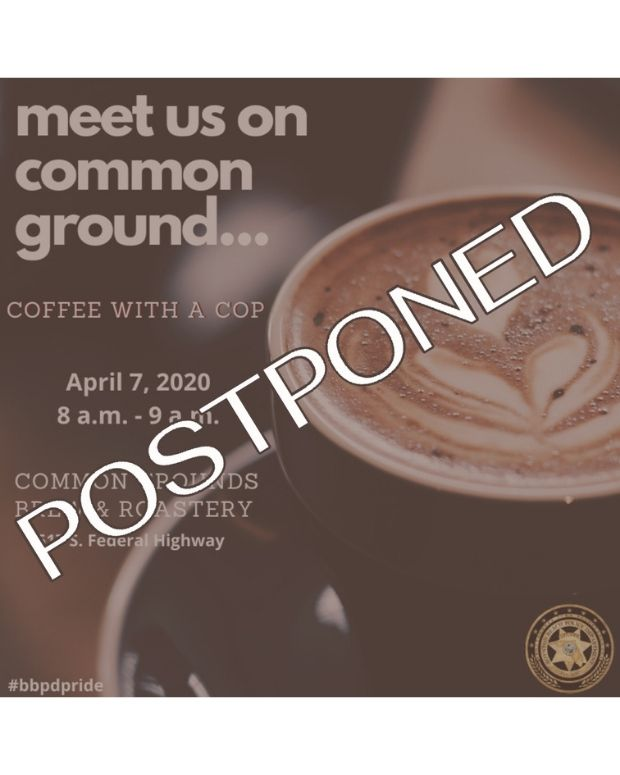 Coffee with a Cop for April 7 is postponed