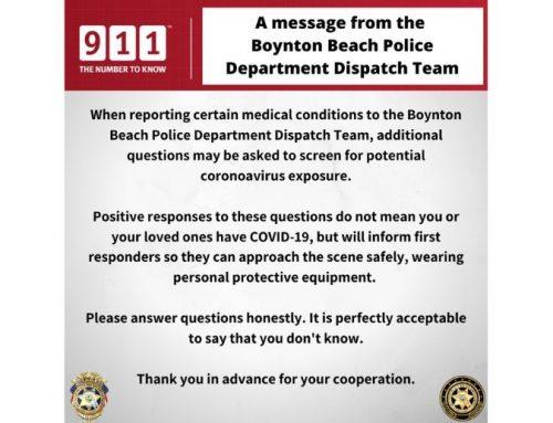 Coronavirus information from the BBPD Dispatch Team
