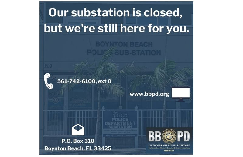 BBPD substation is now closed