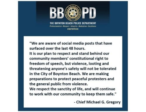 A message to the community from Chief Michael G. Gregory