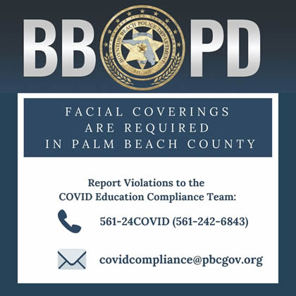 Facial coverings required in palm beach county