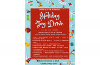 List of drop off locations for BBPD toy drive