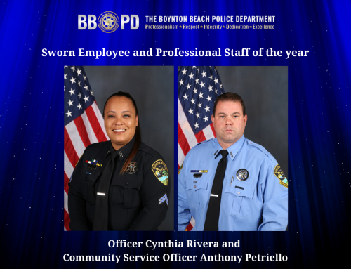 Rivera, Petriello honored as Sworn Employee and Professional Staff of the Year