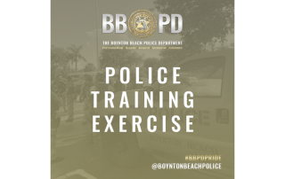 Announcement of Police Training Exercise
