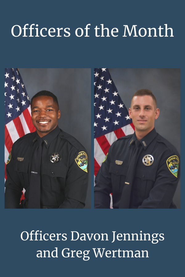 announce of officers of the month