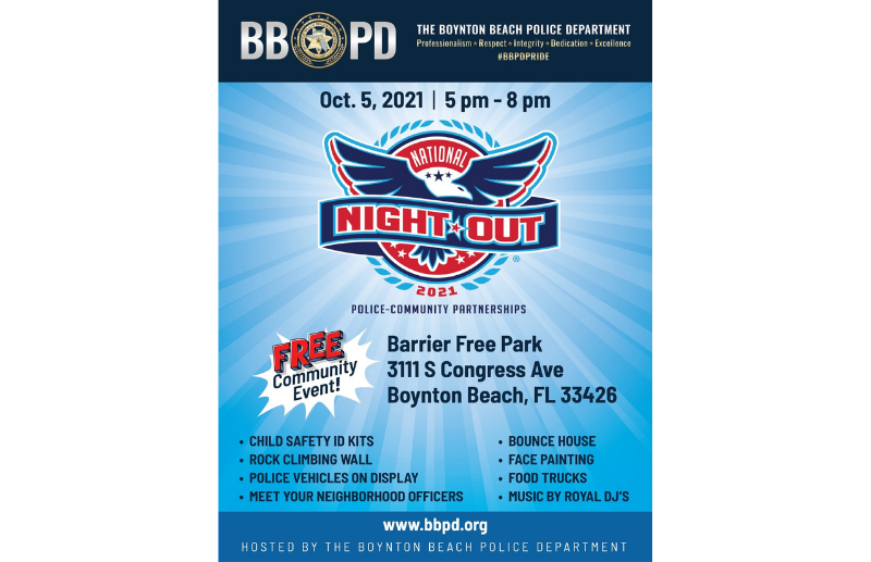 Announcement of National Night Out Event