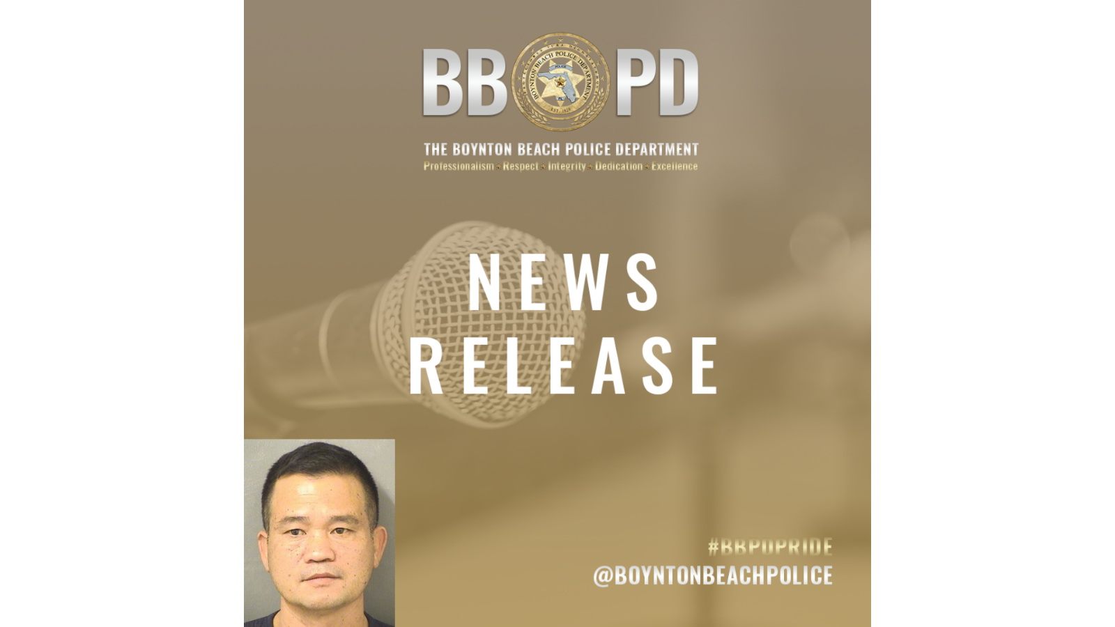 Announcement of news release with photo of Qui Vanh Voong in bottom left corner