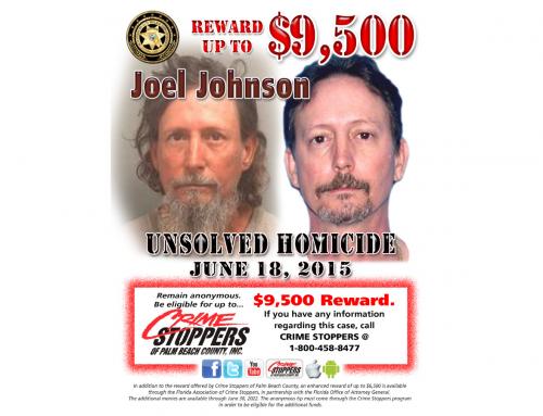 Reward up to $9,500 for information on homicide