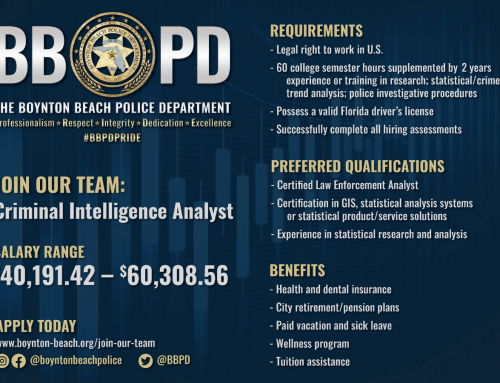 JOIN OUR TEAM: CRIMINAL INTELLIGENCE ANALYST