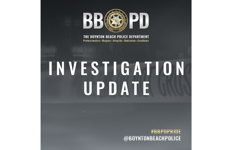 Announcement of investigative update